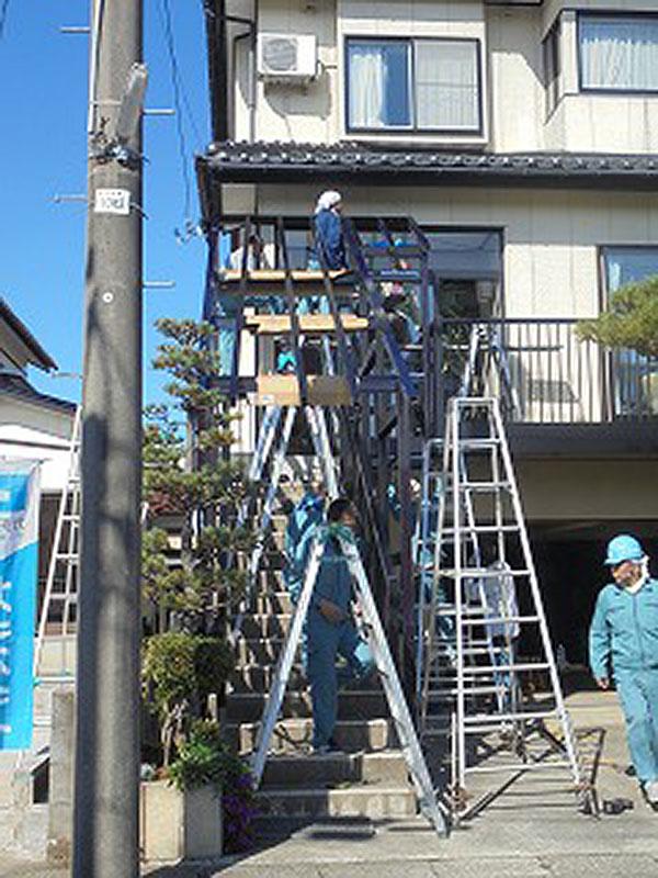 階段風除室 設置工事